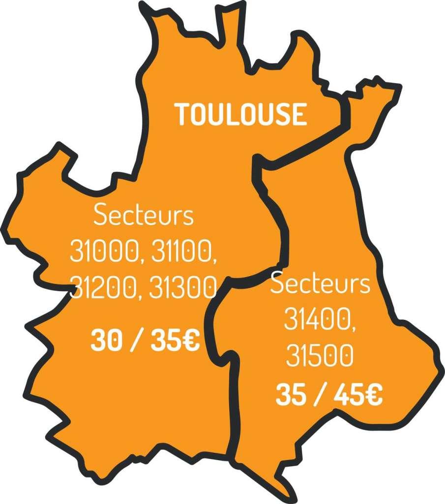 Carte de la ville de Toulouse